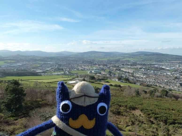 View from the top of Bray Head - CrawCrafts Beasties