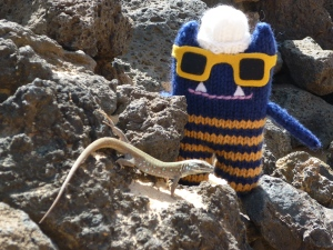 Explorer Beastie with Lizard
