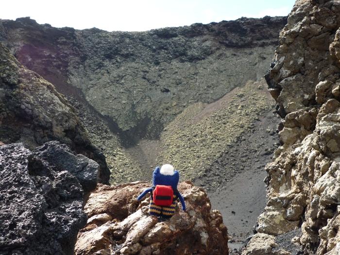 Explorer Beastie at the Volcano