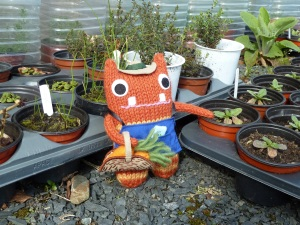Gardener Beastie with Seedlings