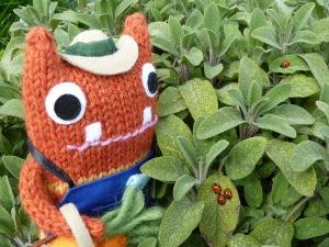 Gardener Beastie with Ladybirds