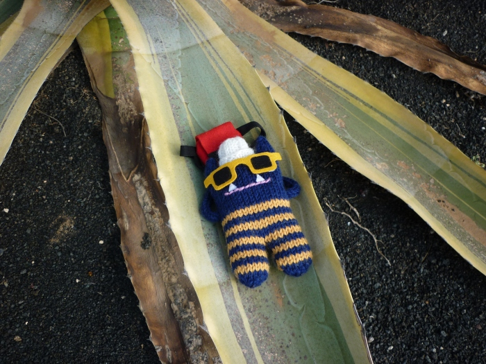 Explorer Beastie Sunbathing on a Cactus