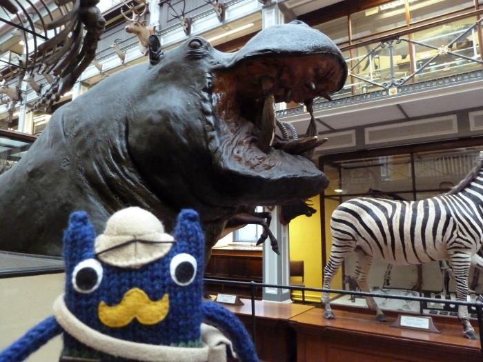 Victorian Explorer Beastie With Hippo - CrawCrafts Beasties