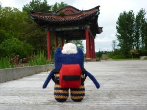 Beastie in the Japanese Garden
