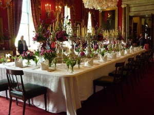 Dinner Table at Chatsworth House