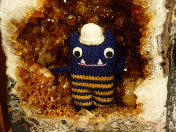 Explorer Beastie in a Crystal Cave
