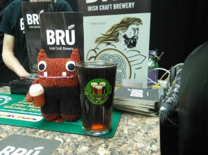 Red Ale Beastie at the Bru Stand