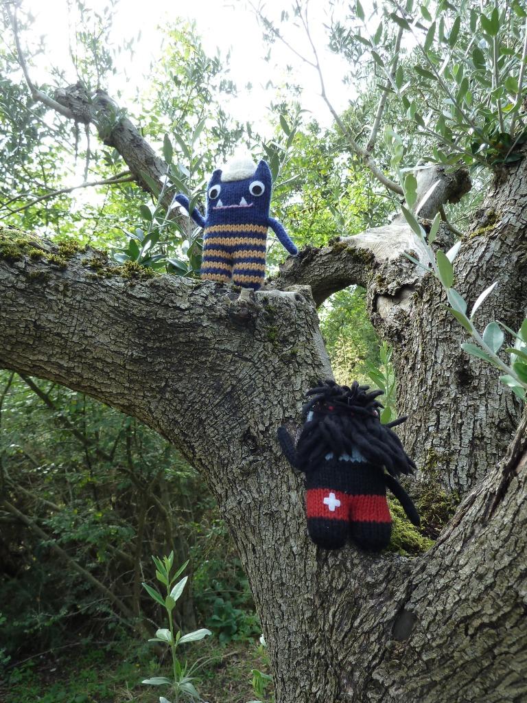Beasties Climbing Olive Trees - CrawCrafts Beasties