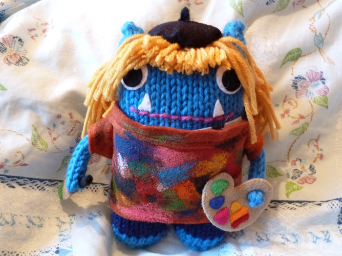 Artist Girl Beastie, by CrawCrafts Beasties