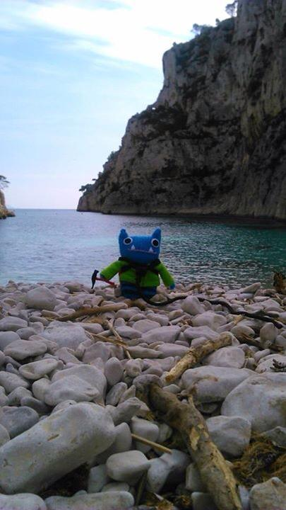 Climber Beastie on the Shore - J Donaldson/CrawCrafts Beasties