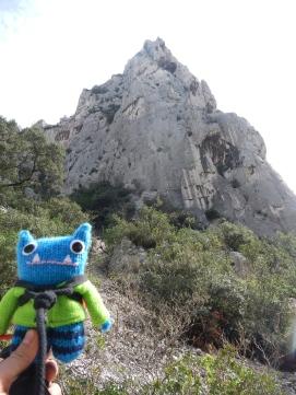 Climber Beastie at Les Calanques - J Donaldson/CrawCrafts Beasties