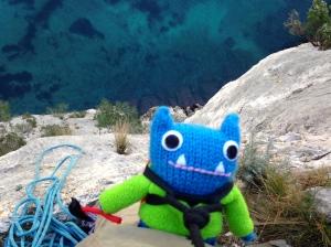 Wooooah, that's high up! Climber Beastie, J Donaldson/CrawCrafts Beasties