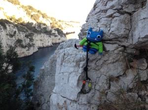 Nearly there, Climber Beastie! J Donaldson/CrawCrafts Beasties