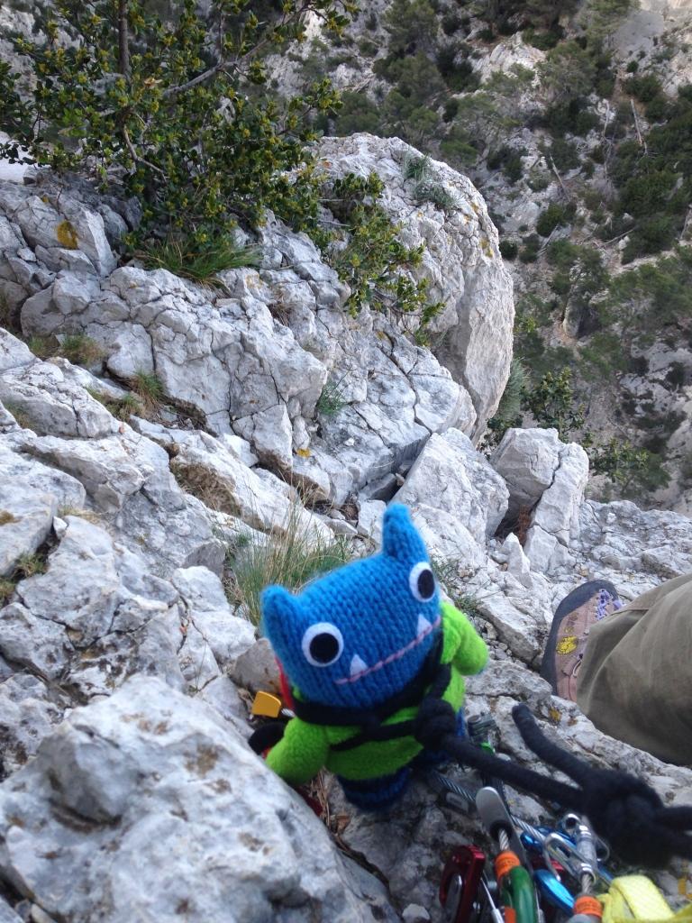 Climber Beastie Conquers Les Calanques! J Donaldson/CrawCrafts Beasties