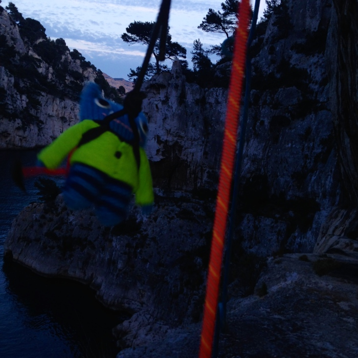 Climber Beastie heads for home - J Donaldson/CrawCrafts Beasties