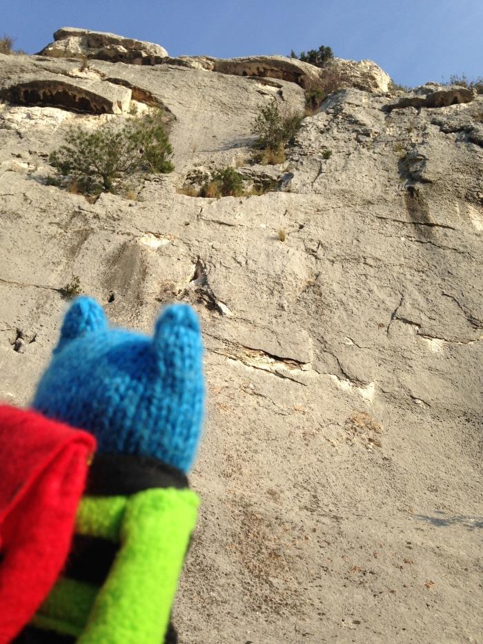 Climber Beastie at Les Calanques