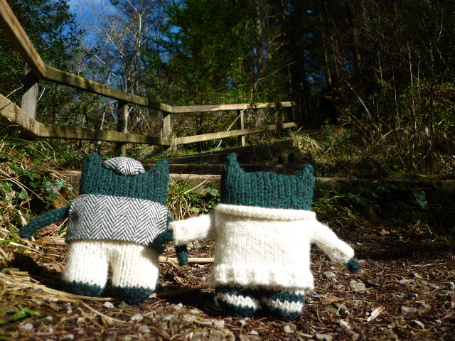 Paddy and Plunkett head for home - CrawCrafts Beasties/Heather Crawford