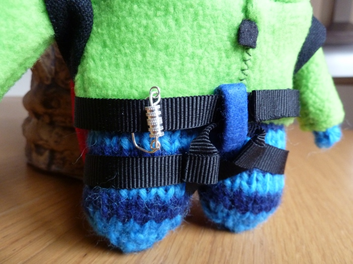Climber Beastie Harness and Carabiner by CrawCrafts Beasties