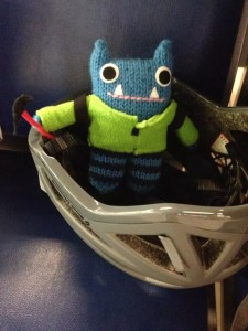Climber Beastie travelling in style! (CrawCrafts Beasties)