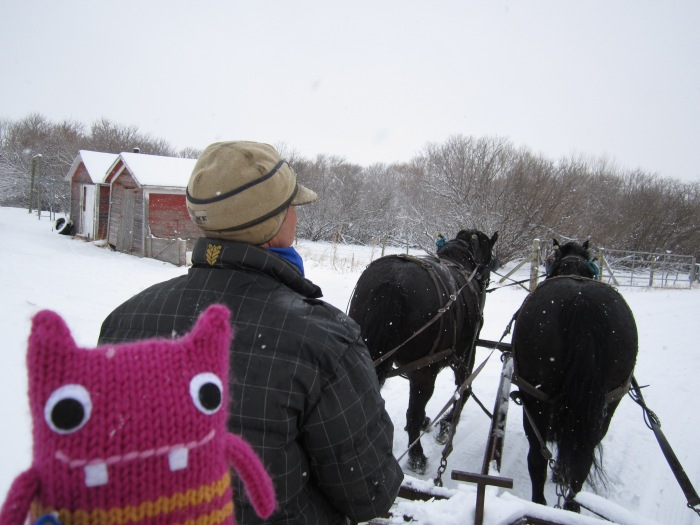 Reader Beastie on the Bale Wagon - CrawCrafts Beasties/N Couture