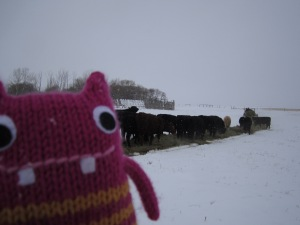 Reader Beastie Feeding the Cattle - CrawCrafts Beasties/N Couture