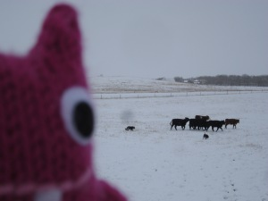 Reader Beastie helps to round up the rest of the herd - CrawCrafts Beasties/N Couture