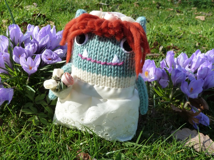 Bride Beastie with Crocuses - CrawCrafts Beasties