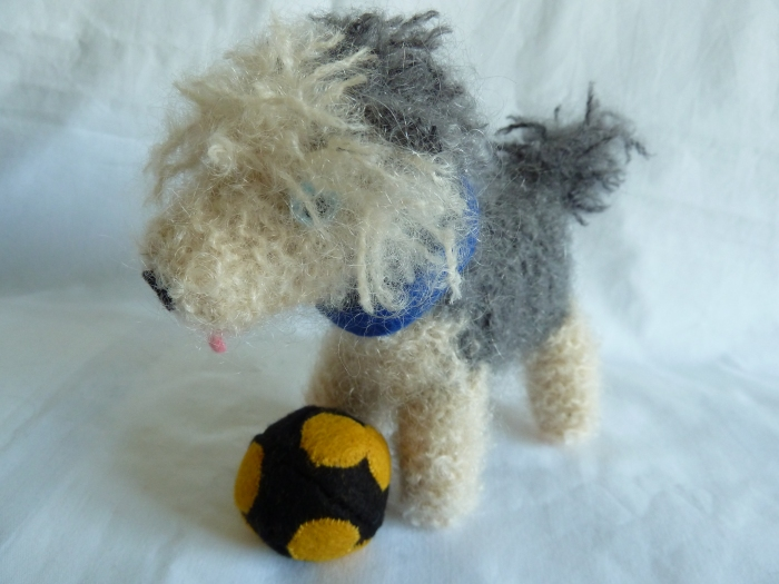 Beastdog with his Football, by CrawCrafts Beasties