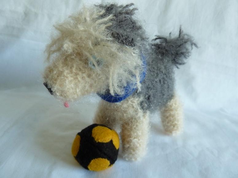 Beastdog with his Football, by CrawCrafts Beasties