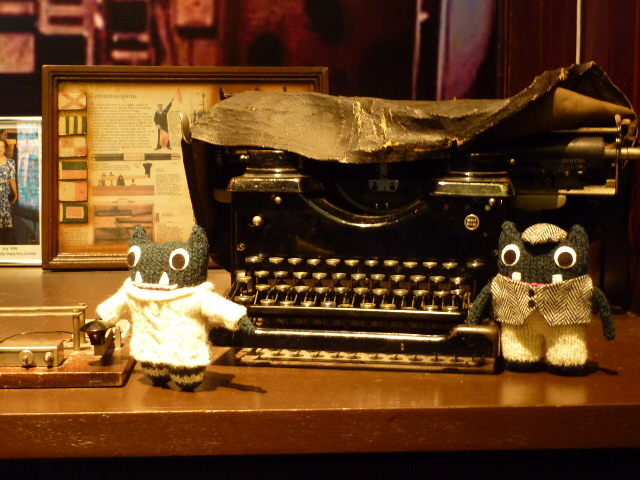 Paddy and Plunkett with the Marconi Room Typewriter - H Crawford/CrawCrafts Beasties
