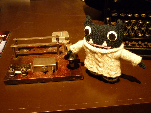Paddy Using the Morse Code Machine - H Crawford/CrawCrafts Beasties