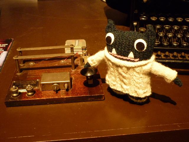 Paddy Using the Morse Code Machine - H Crawford/CrawCrafts Beasties