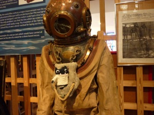 Paddy with a Vintage Diving Suit - H Crawford/CrawCrafts Beasties