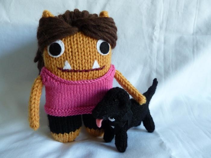 Tracy Beastie and her Beastiedog, by CrawCrafts Beasties