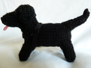 Black Lab Beastiedog, by CrawCrafts Beasties