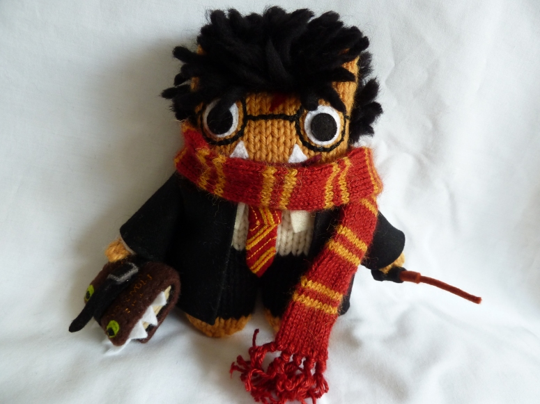 Harry Potter Beastie in full Gryffindor Uniform, by CrawCrafts Beasties