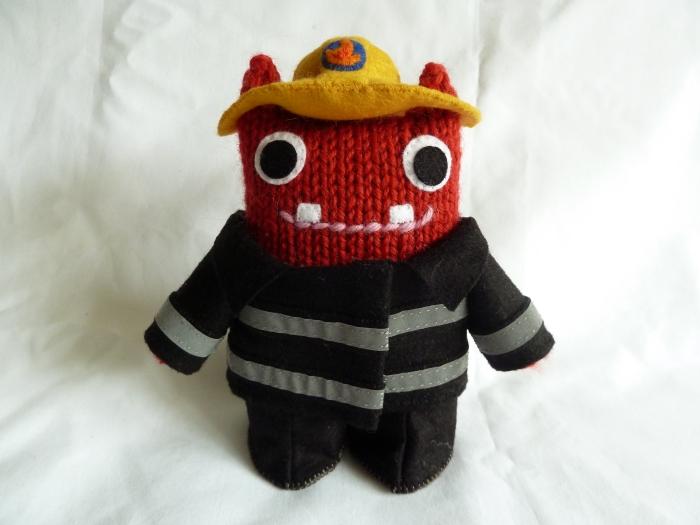 Fireman Beastie Dressed for Action! (CrawCrafts Beasties)