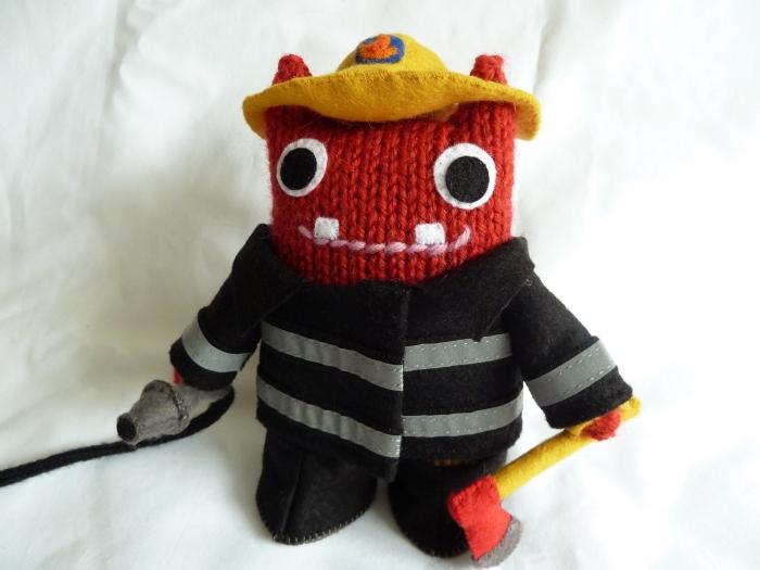 Fireman Beastie in Full Uniform! (CrawCrafts Beasties)