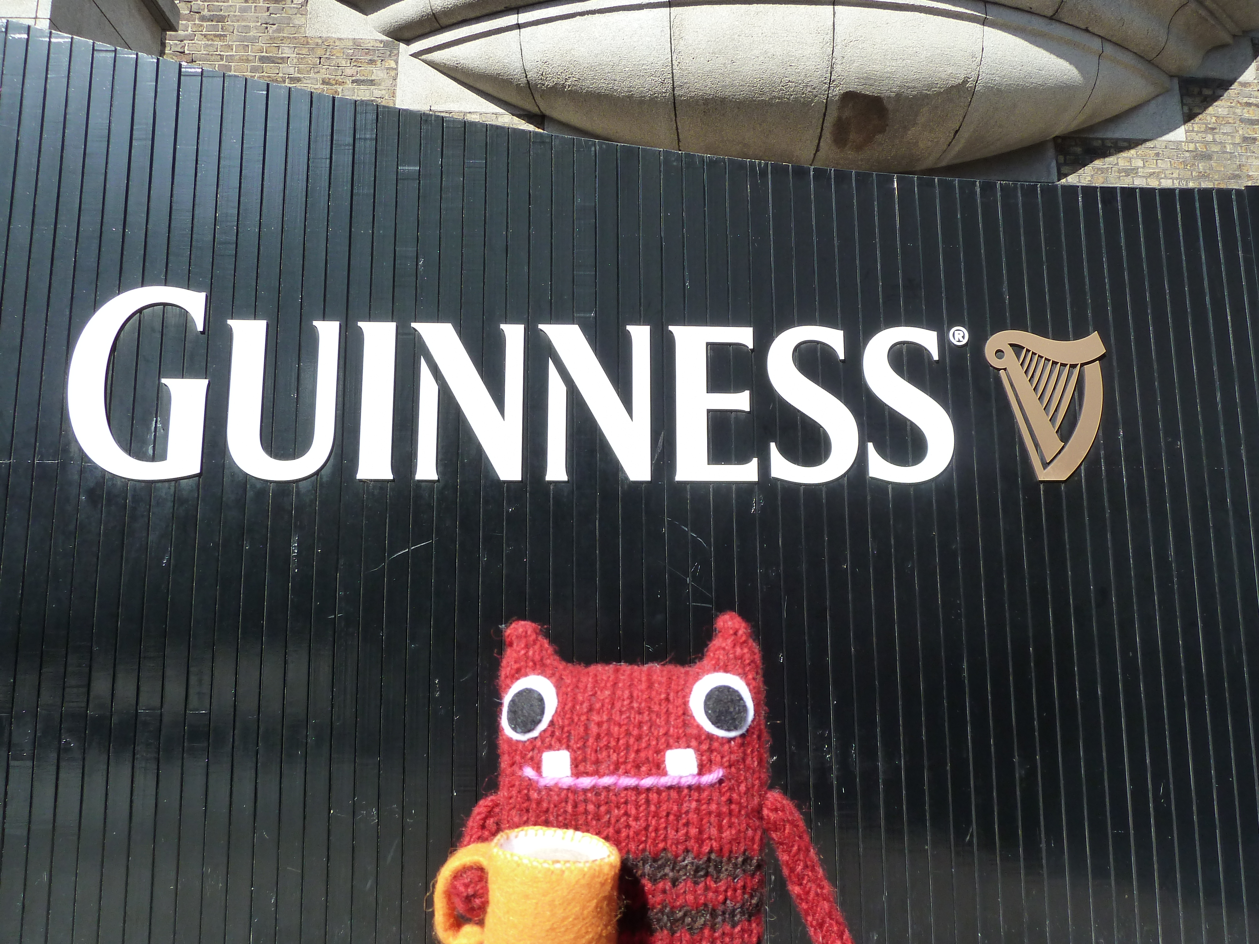 Tae Beastie at the Guinness Storehouse - CrawCrafts Beasties