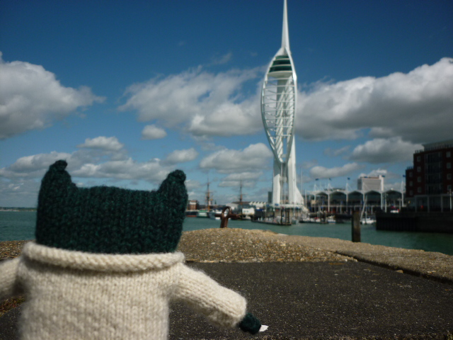 Paddy with the Spinnaker Tower - H Crawford/CrawCrafts Beasties