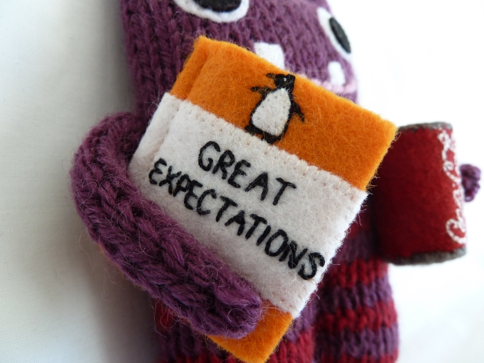 Coca-Cola Beastie's copy of Great Expectations, by CrawCrafts Beasties
