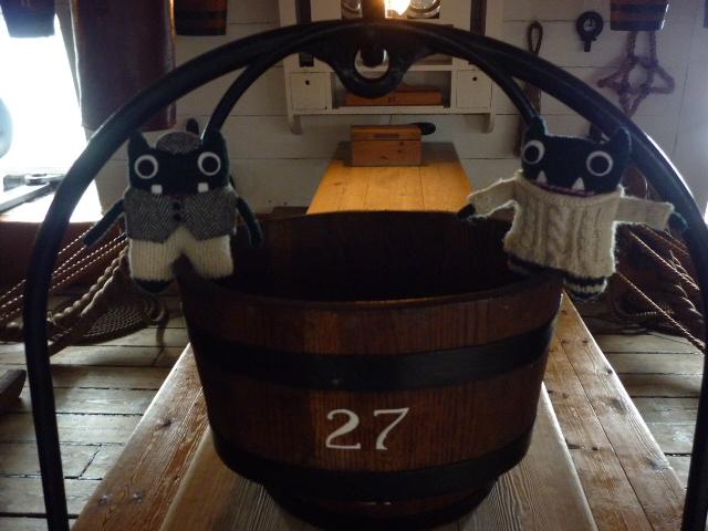 Paddy and Plunkett Below Decks on HMS Warrior - H Crawford/CrawCrafts Beasties