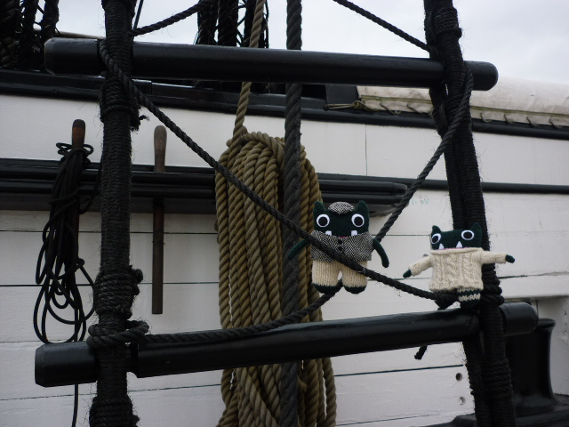 Paddy and Plunkett on HMS Warrior - H Crawford/Crawcrafts Beasties