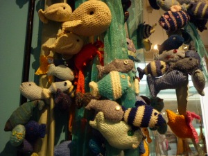 Knitted Fishies at the Figurehead Museum - H Crawford/CrawCrafts Beasties