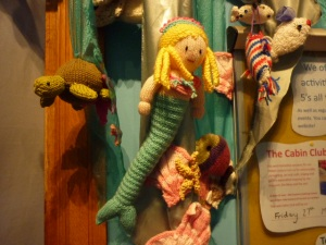 Knitted Mermaid and Friends at the Figurehead Museum - H Crawford/CrawCrafts Beasties