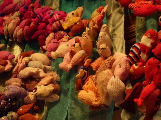 More Knitted Undersea Creatures at the Figurehead Museum - H Crawford/CrawCrafts Beasties