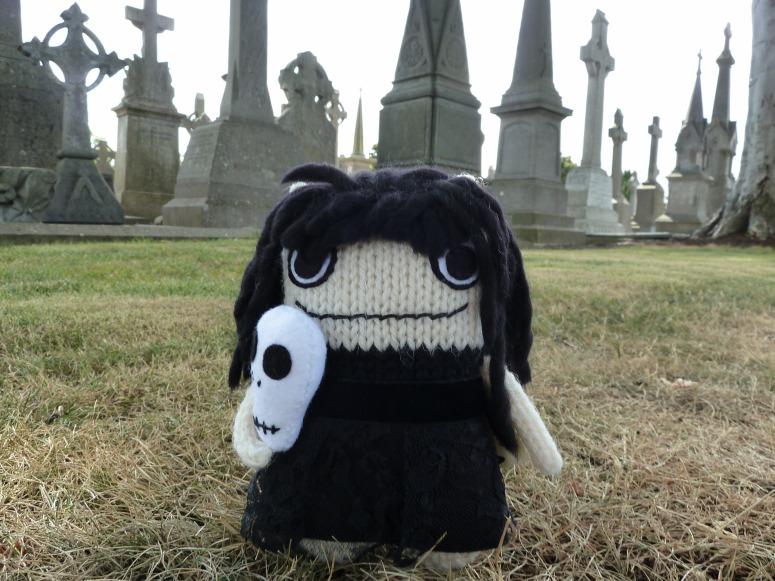 Goth Beastie Among the Gravestones - CrawCrafts Beasties