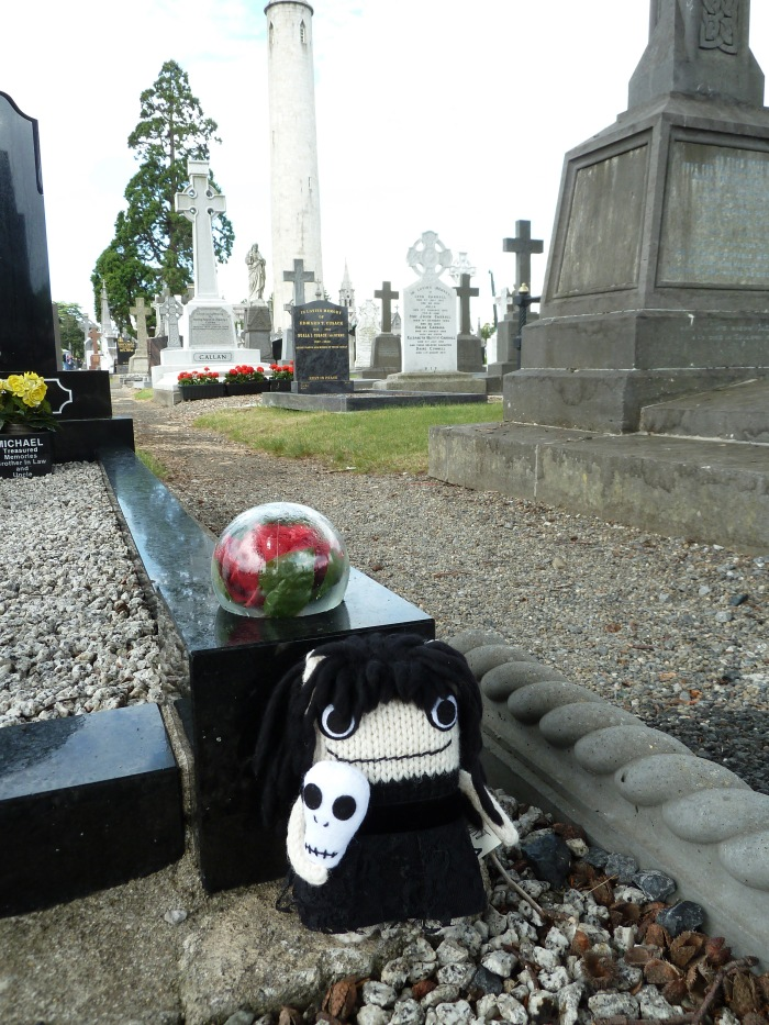 Goth Beastie with the Glasnevin Round Tower - CrawCrafts Beasties