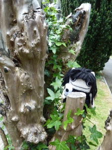 Goth Beastie in the Trees (2) - CrawCrafts Beasties