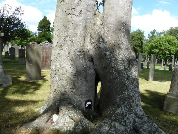 Goth Beastie in the Trees (3) - CrawCrafts Beasties